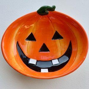 Halloween 🎃 Jack o lantern ceramic bowl